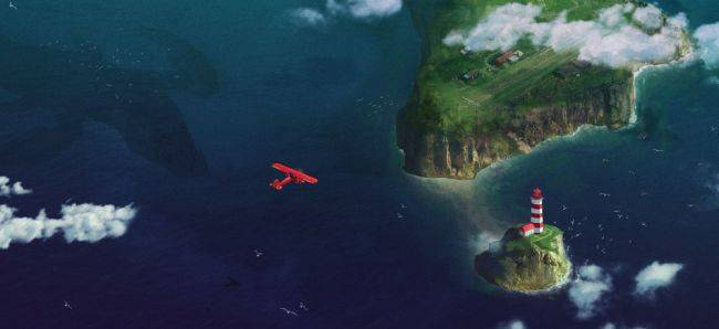Brave a flooded world in your little plane in Above