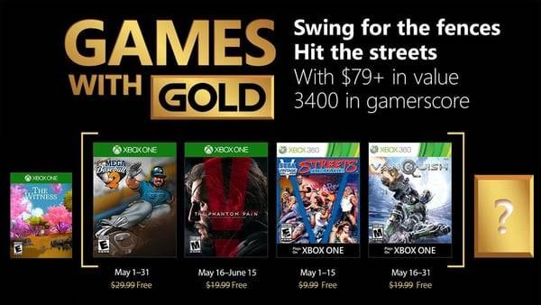 Xbox Live Gold free games for May 2018 announced