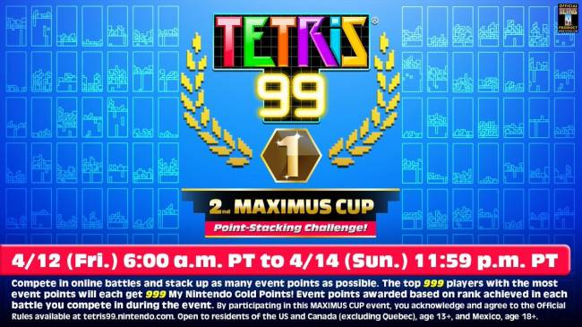 Switch's Second Tetris 99 Tournament Taking Place This Weekend