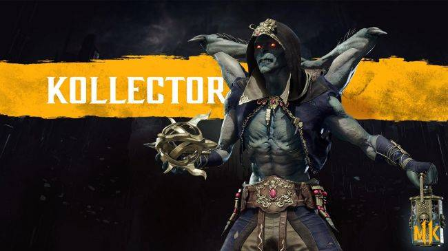 Mortal Kombat 11's The Kollector keeps some grim things in his backpack