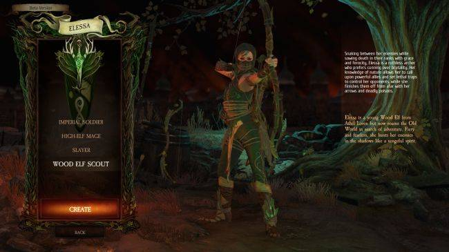 See Warhammer: Chaosbane's wood elf in action