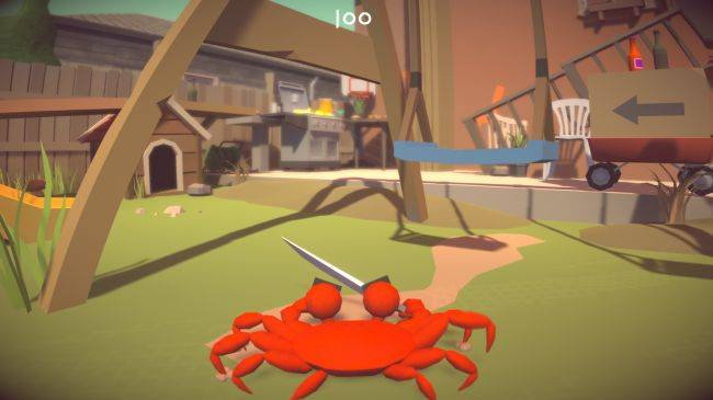 Play as an angry crab with a kitchen knife in this free comedy game