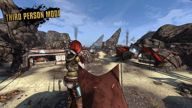 Play Borderlands GOTY Enhanced in third-person with this impressive mod