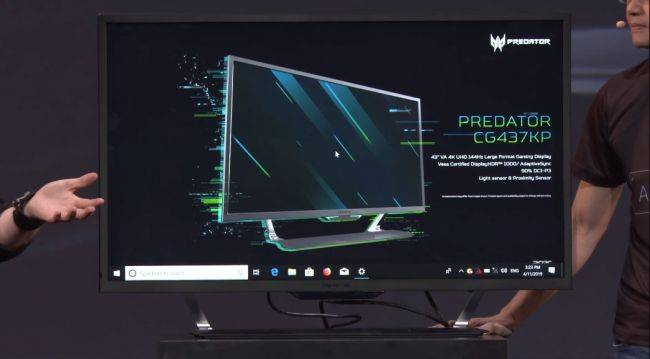 Acer goes big and bright with a 43-inch 4K 144Hz gaming monitor