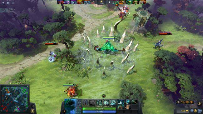 Watch pro Dota 2 players take on an AI team