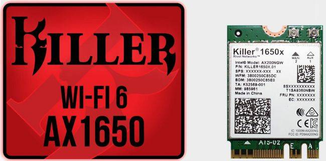 Killer AX1650 Wi-Fi 6 adapter is built on Intel tech