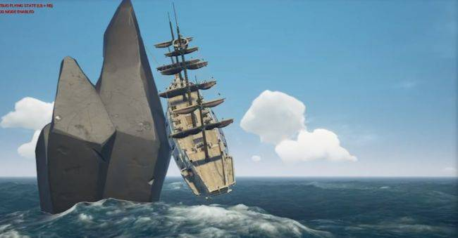 Sea of Thieves playtesters used harpoons to pull their ships up mountainsides