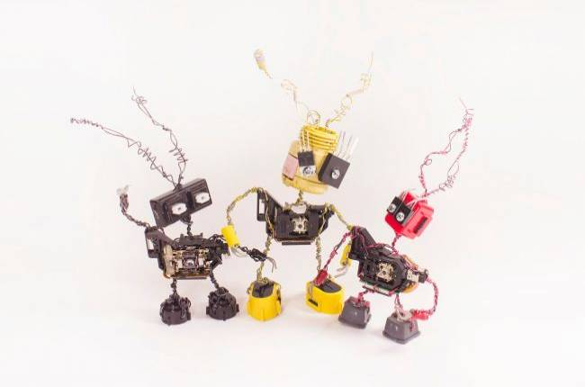 These Etsy artists are creating clocks and tiny robots out of computer parts