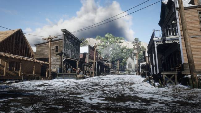Rockstar's April Fools prank covers GTA Online and Red Dead Online in a blanket of snow