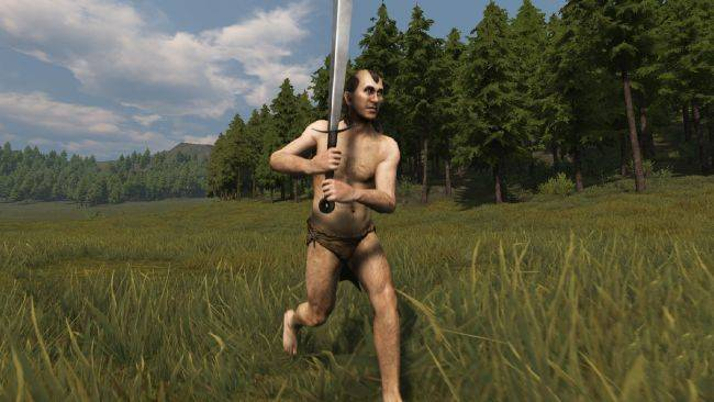 Watch this Mount and Blade madman win a fight against 60 enemies while naked