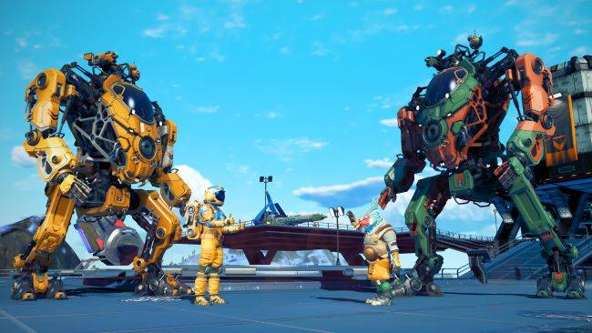 Pilot a giant stomping mech in the new No Man's Sky update