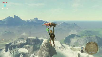 See How Link Uses The Paraglider In New Clip