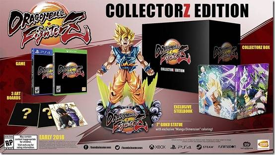 Dragon Ball FighterZ CollectorZ Edition Comes With A Goku Statue
