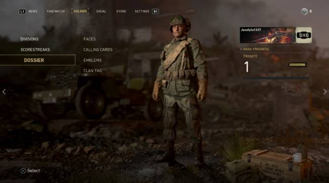 Report: Call of Duty: WWII Lobby and Menu Screens Leaked