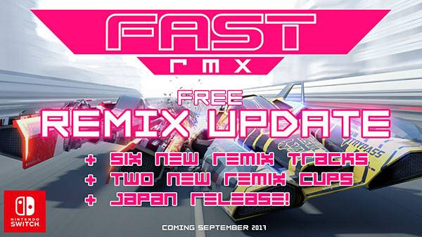 FAST RMX September update to add six new tracks, two new cups