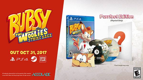 Bubsy: The Woolies Strike Back launches October 31 with PS4 physical limited edition