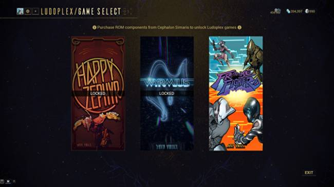 Warframe's minigame arcade debuts with Frame Fighter plus some old Easter eggs
