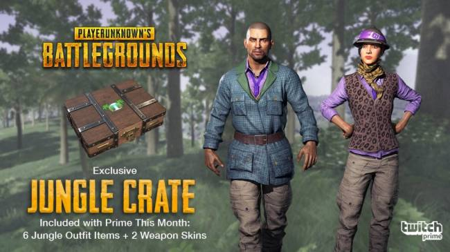 PlayerUnknown's Battlegrounds Offers a Stylish Jungle Crate for Twitch Prime Members