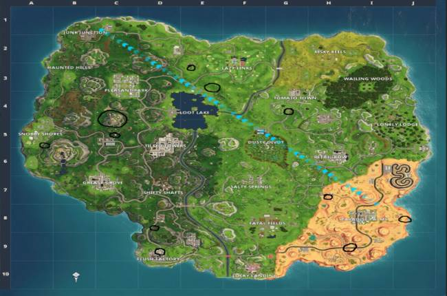 Fortnite: Flaming Hoop locations – Where to jump through Flaming Hoops with a shopping cart or ATK