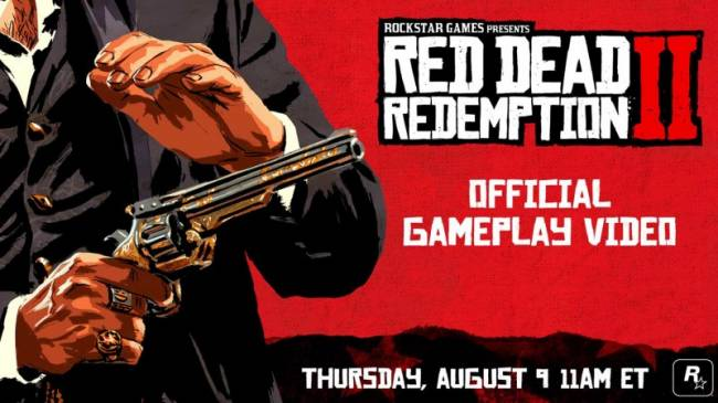 New Red Dead Redemption II Gameplay Trailer Coming Tomorrow