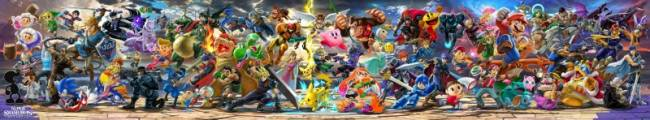 Check Out A High Resolution Version Of Super Smash Bros. Ultimate's Panoramic Character Illustration