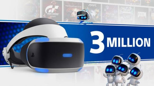 PSVR Hits 3 Million Sales