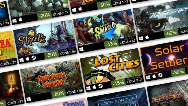 The Steam Board Games Weekend Sale is live