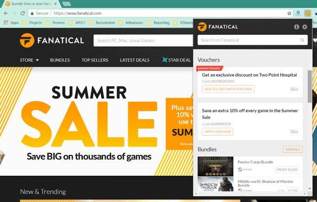 Fanatical Assistant browser extension tells you when its deals beat Steam's