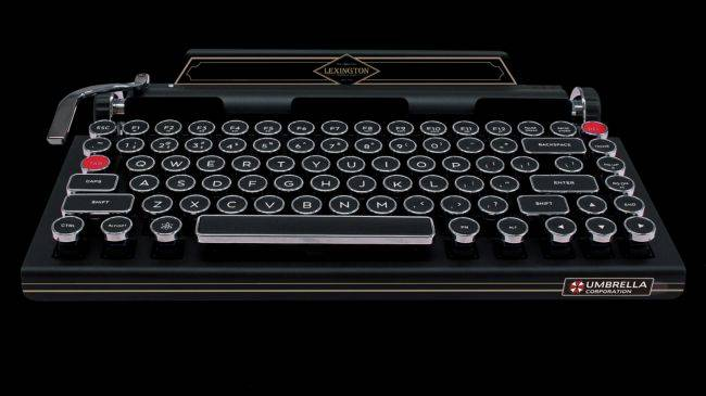 The Resident Evil 2 remake is getting an official typewriter-themed keyboard