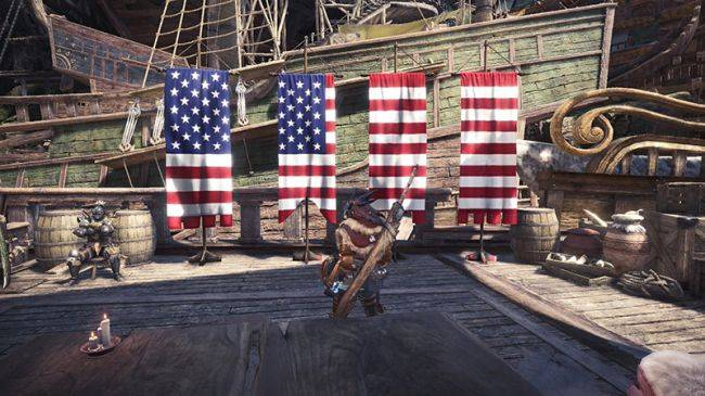 Monster Hunter: World mod makes your hub area more patriotic