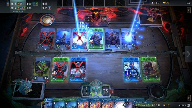 Watch 20 minutes of Artifact gameplay from PAX