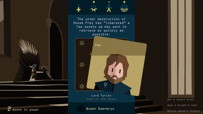 Kingdom-managing app 'Reigns' goes 'Game of Thrones'