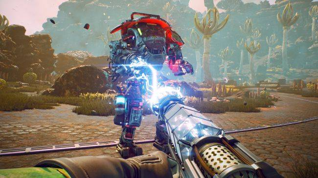 Here's an hour of side-quests from The Outer Worlds—including a murder investigation