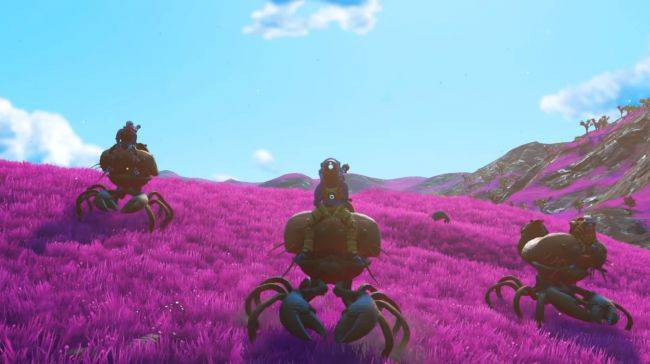 No Man's Sky Beyond will let you ride giant crabs