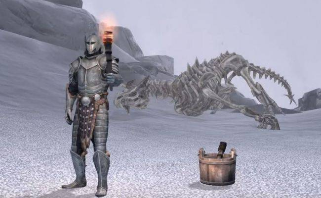 Skyrim player completes game using only a torch