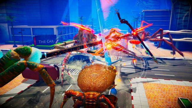 Fight Crab is a game about giant crabs fighting, and it features chainsaws