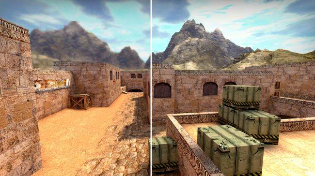 A modder recreated the classic Dust 2 map textures for CS:GO using artificial-intelligence