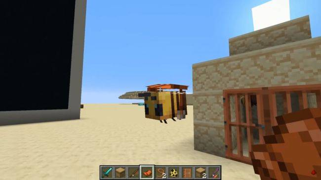 Minecraft's new bees have already been made rideable