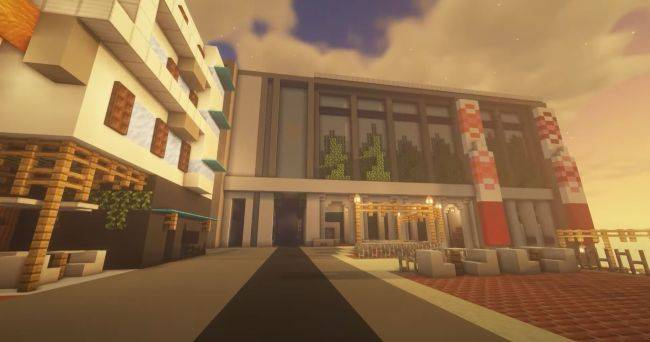 This Minecraft recreation of Destiny 2's Tower is very impressive