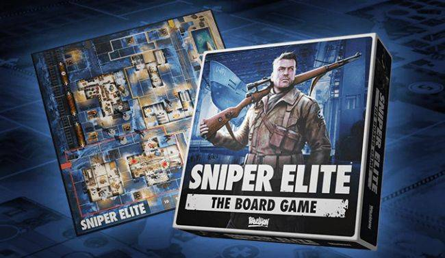 Sniper Elite: The Board Game features a miniature of Hitler getting shot in the balls