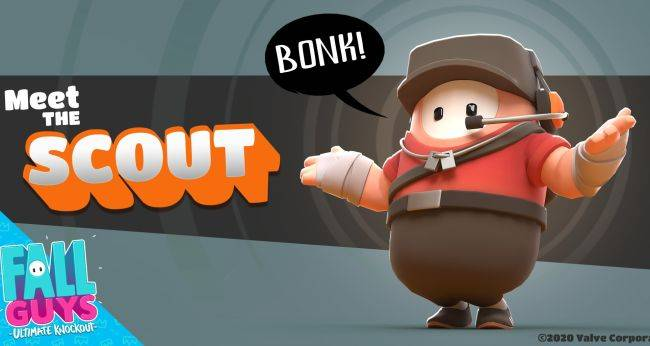 The Fall Guys Item Shop adds an adorable TF2 Scout costume