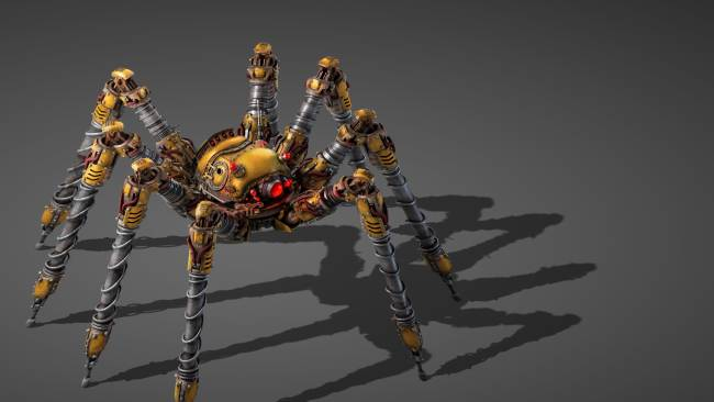 Factorio's new spider robot has mesmerizing telescoping legs