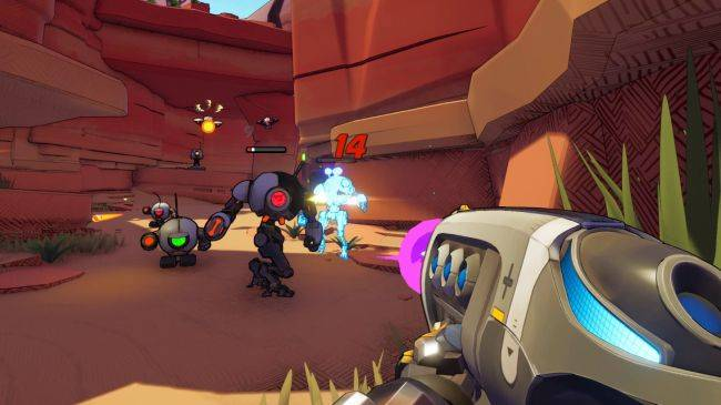 This sci-fi FPS looks like Borderlands, but its robot is cool instead of annoying