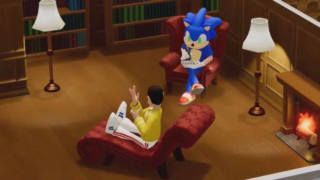In one of the weirdest game crossovers ever, Sonic the Hedgehog is now in Two Point Hospital