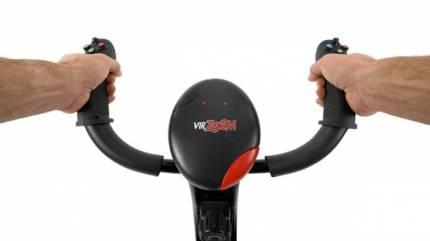 Going Hands (And Feet) On With The Virtual Reality Exercise Bike VirZoom