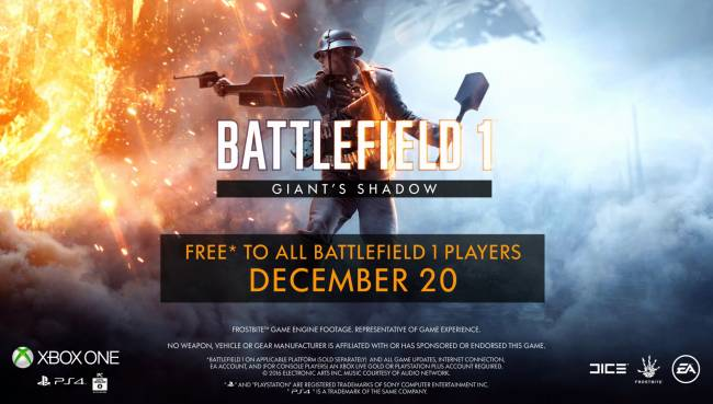 "Battlefield 1 – ""Giant's Shadow"" Now Live, Nerfs Medic Syringe And Model 10-A Shotguns"