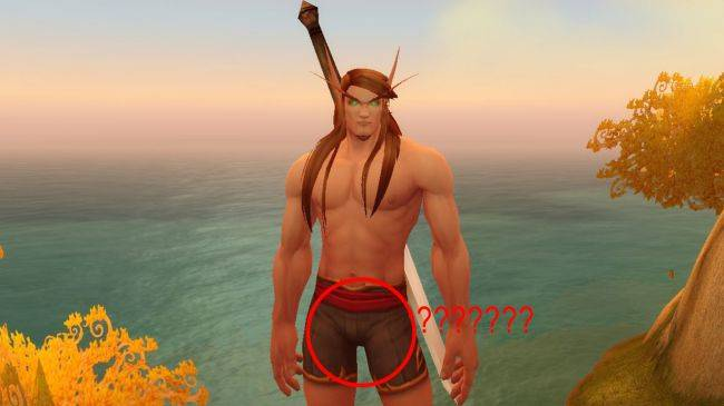 This WoW player calculated the size of each races' genitals for some reason