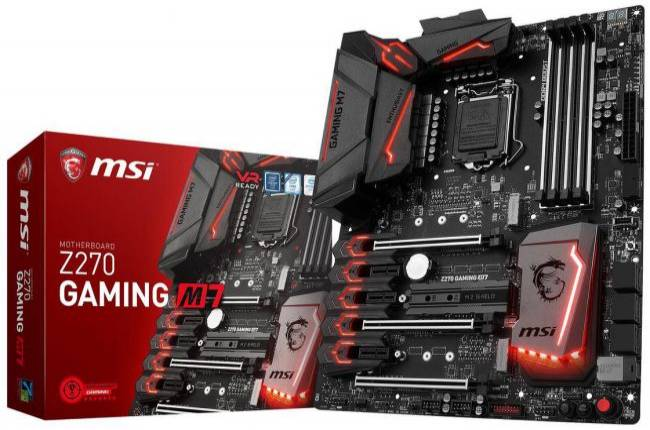 MSI's feature-rich Z270 Gaming M7 motherboard falls to $130 after rebate