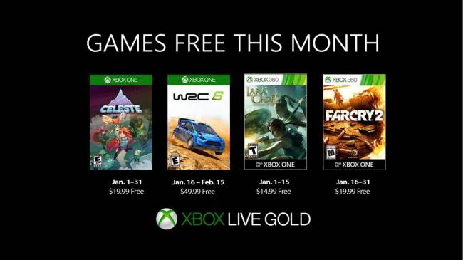 Xbox One Games With Gold For January 2019 Revealed
