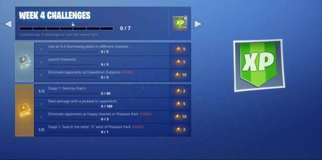 Fortnite Week 4 Guide: Search The Letter 'O', Eliminate At Expedition Outposts, And More (Season 7)